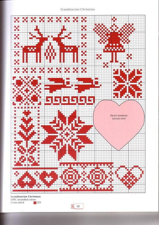 Scandinavian Christmas cross stitch chart