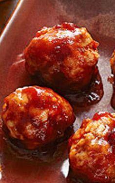 Cranberry Sauced Meatballs Appetizer