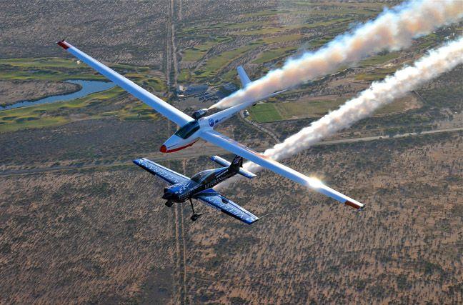 Jet powered sailplane with an Extra