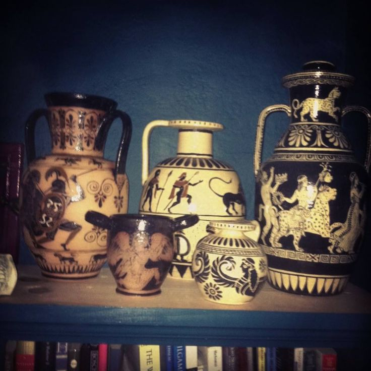 Someone's been collecting the Greek pottery... http://www.reannagteine.com/Products/Greek.html