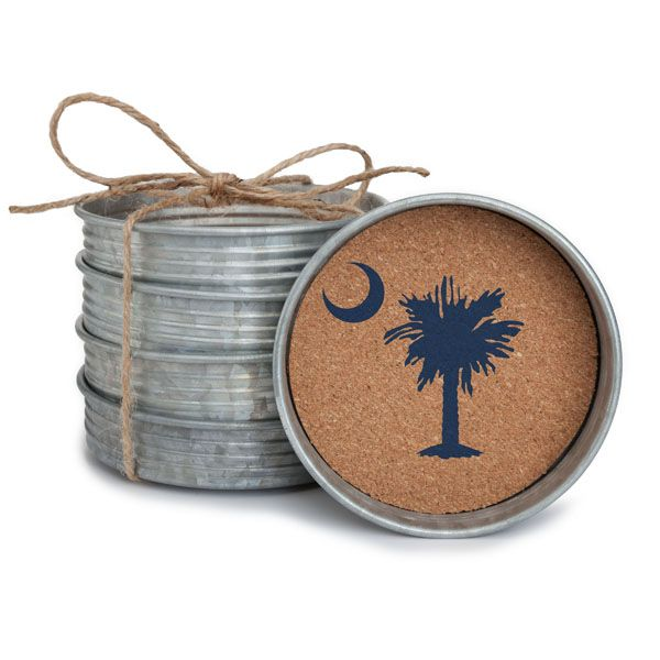 Mason Jar Lid Coaster Stack-Palmetto Moon - Occasionally Made - Classic Gifts with a Trendy Twist!
