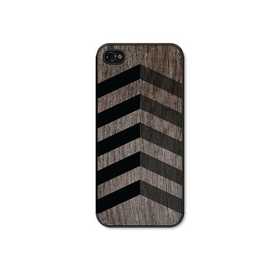 Black Geometric Chevron iPhone 5s Case - Plastic iPhone 5 Case -  Wood Tribal Southwest iPhone 5 Skin - Black Brown Cell Phone For Him