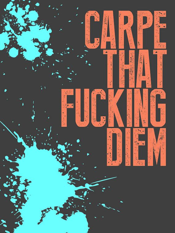 Banksy Poster Print Carpe Diem Multiple Paper by daveyknew84