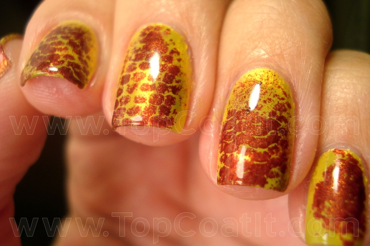 Snake Skin: Nail Designs, Orange Nails, Snake Skin, Animal Inspired, Snakeskin Tutorial 16