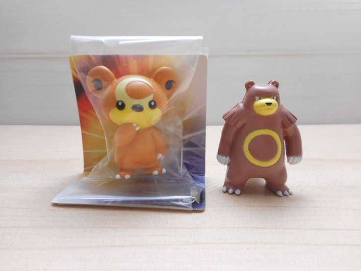 Pokemon Tomy Teddiursa Ursaring Figure Monster Collection Set Rare Original  #TOMY