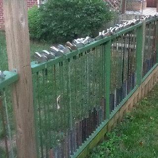 Golf club fence....recycle!!!!