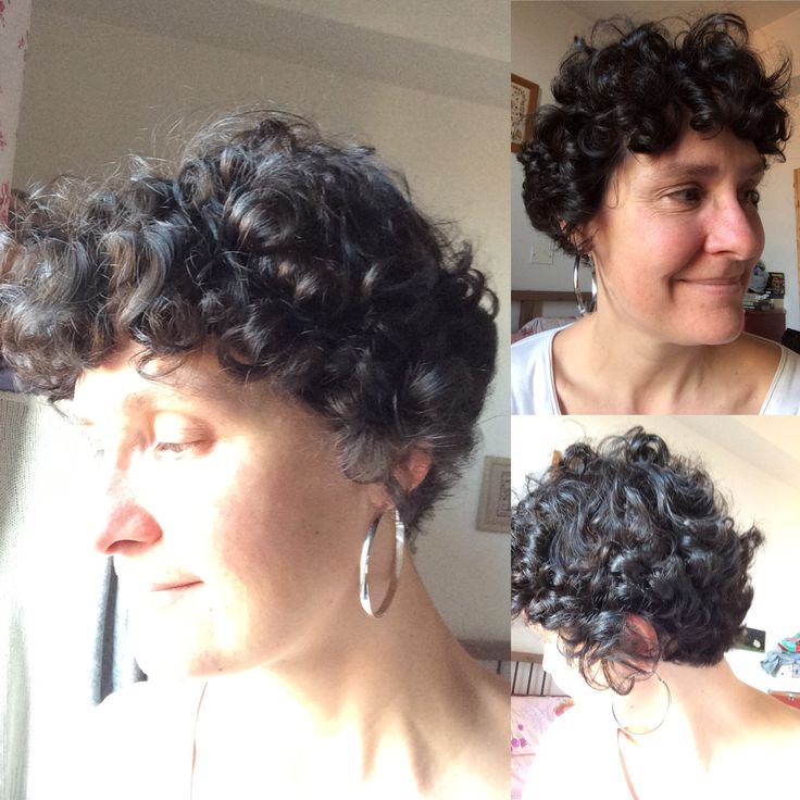 Free chemo curls !   one year and two weeks post last chemo  ( and three hair cuts back and sides )
