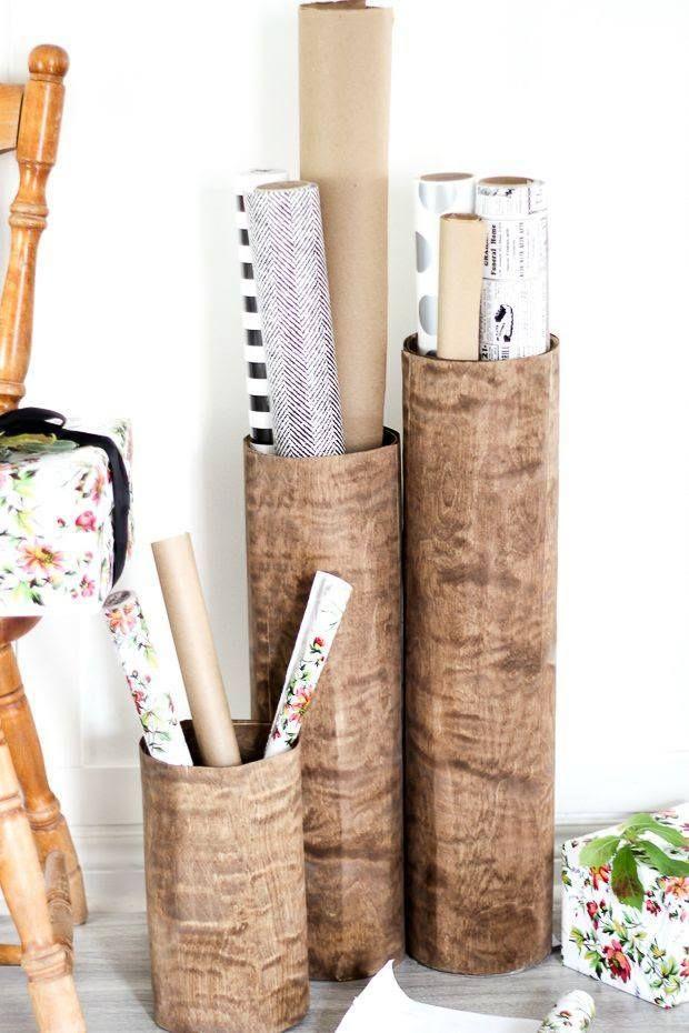 DIT Storage Containers using wood veneer