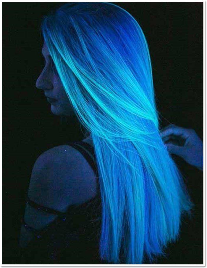 Blue Glow In The Dark Hair Mermaid Hair Color Neon Hair Color