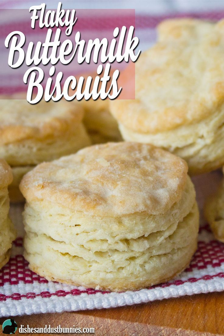 Flaky Buttermilk Biscuit Recipe from http://dishesanddustbunnies.com