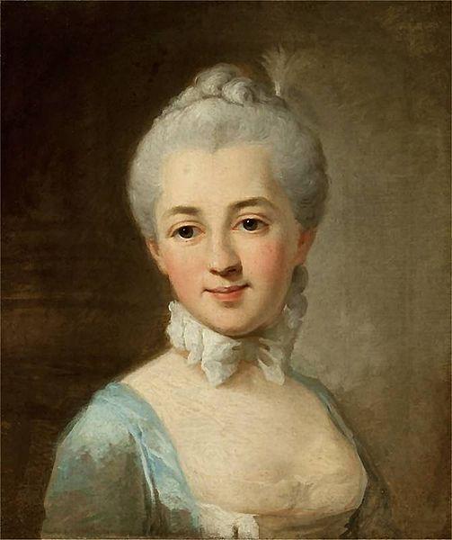 Portrait de Izabela Lubomirska, née Czartoryska, 1767 Per Krafft l'aîné