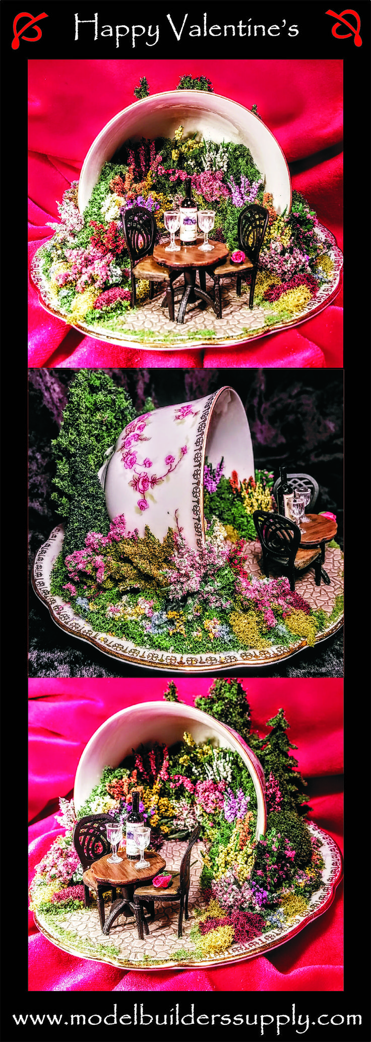 "A rose is just a rose, until you put it in a miniature English garden inside a teacup, then it's something very special. This teacup is appropriately named "" Bridal Rose"""