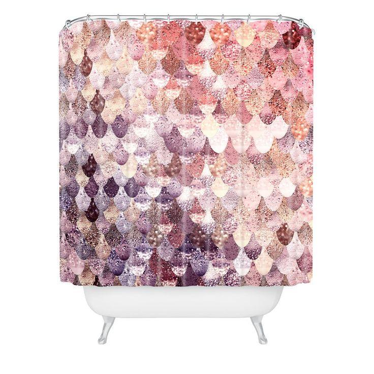 Monika Strigel LILY ROSE MERMAID Shower Curtain