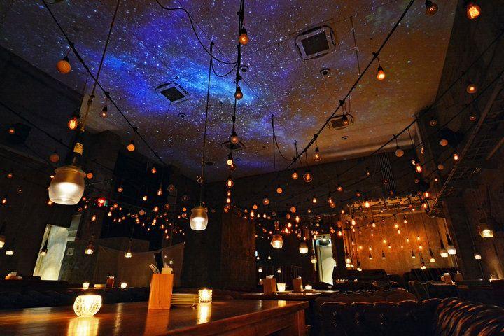 銀座で満天の星の下 ロマンティックディナー 全席ソファの