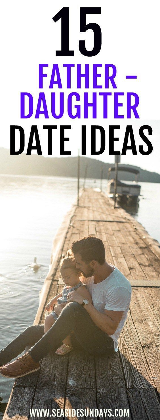 Great ideas for Father-daughter dates. Children will love spending time with dad with these fun activities. Perfect for Father's day. Free Printable.