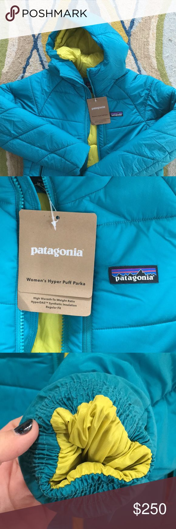 Patagonia Parka/Jacket (SALE!!) The Hyper Puff Parka is one of Patagonias warmest synthetic jackets. Originally $349, I bought it for $244. Asking below purchasing price. This a beautiful jacket that unfortunately is too similar to the color of my ski pants. There are some super awesome details on t he sleeves and inside around the waist, and t comes with a stuff sack for easy storage/transport. This is a super steal!! Patagonia Jackets & Coats Puffers