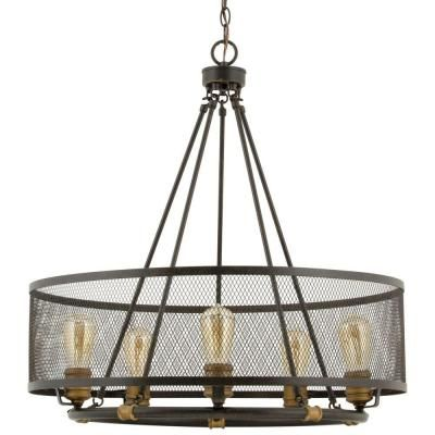 Progress Lighting Heritage Collection 5-Light Forged Bronze Chandelier-P7925-77 - The Home Depot