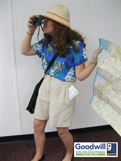 Day 6. Tacky American Tourist. #goodwillhalloween