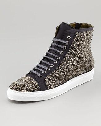 Donald J Pliner Lajos Tux Beaded High-Top Sneaker.
