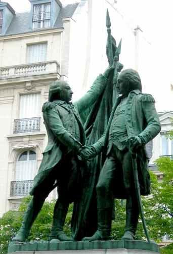 Frédéric Auguste Bartholdi Washington et Lafayette (1890) Place des  Etats-Unis Paris -