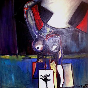 """Saatchi Art Artist Leni Smoragdova; Painting, """"hgfyjfuytguiyuy98686ytdht"""" #art"""