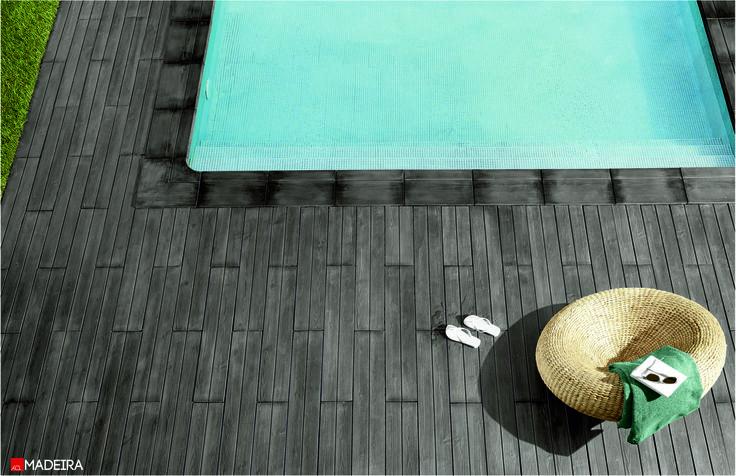 PAVIMENTO MADEIRA  Disponível noutras cores  MADEIRA PAVING Available in other colours  #acl #acimenteiradolouro #tiles #pools