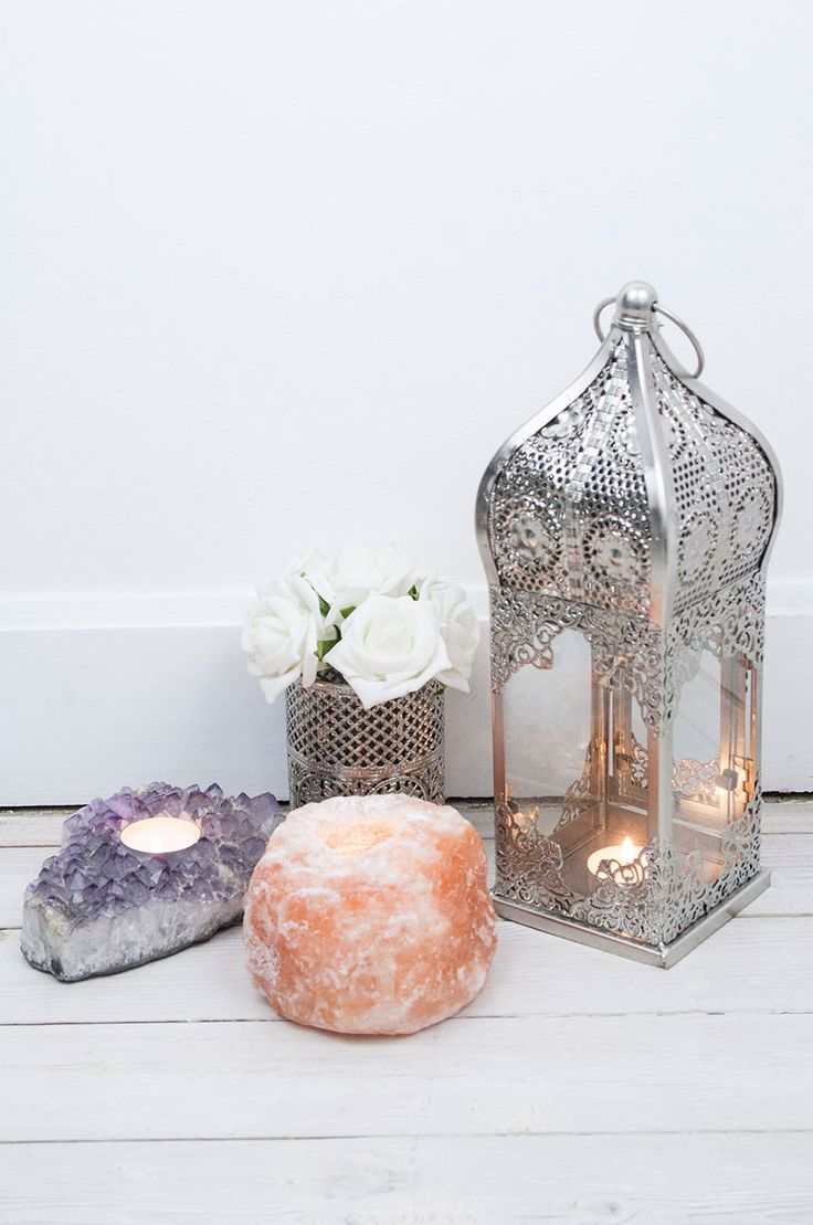 Himalayan Salt Tea Light Holder #homeware #home #homesweethome #interiors #homeinteriors #crystals #crystal #candle #candles #moroccan