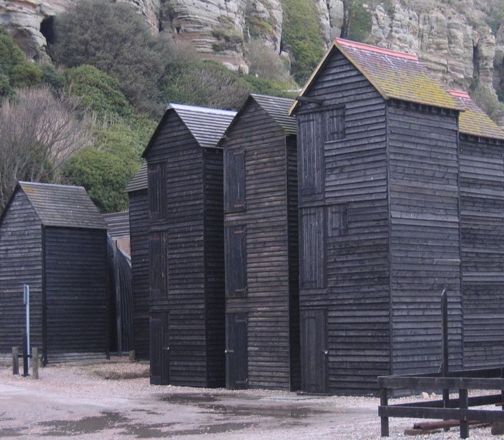 fishermen's huts, hastings, england...reminds me of Scott Pask's design for Peter Grimes