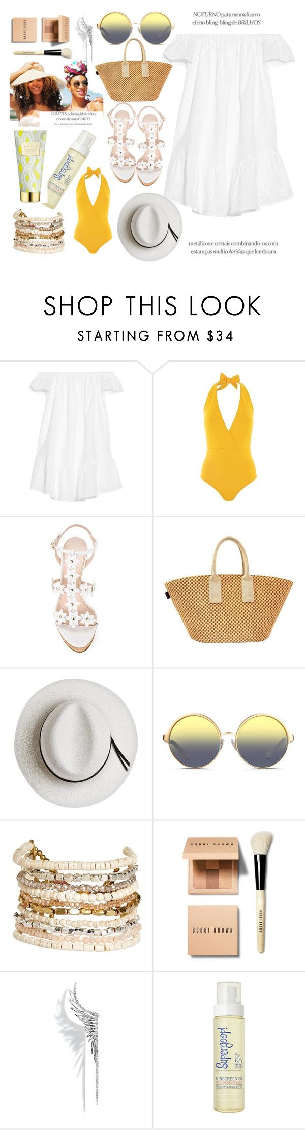 """Без названия #155"" by abk-2103 ❤ liked on Polyvore featuring Elizabeth and James, Lazul, Oscar de la Renta, Hermès, Calypso Private Label, Matthew Williamson, Panacea, Bobbi Brown Cosmetics, Cristina Ortiz and Supergoop!"