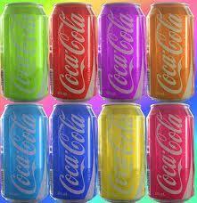 coca~cola rainbow cans