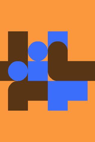 Graphic poster orange