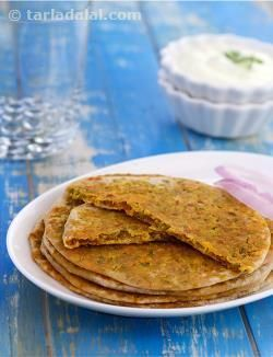 Moong dal is used extensively in Rajasthani cooking from starters likes chilas and vadas, to desserts like moong dal halwa etc.  Jodhpuris prefer the use of moong dal to urad dal particularly as it is easier to digest. Thin crispy moong dal parathas complement virtually any Rajasthani subji.