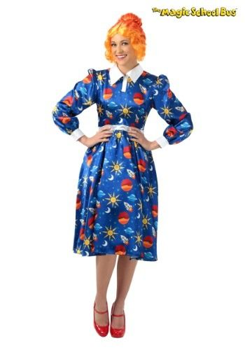 Dress up as your favorite cartoon school teacher from the 90's in this exclusive Magic School Bus Miss Frizzle plus size costume!