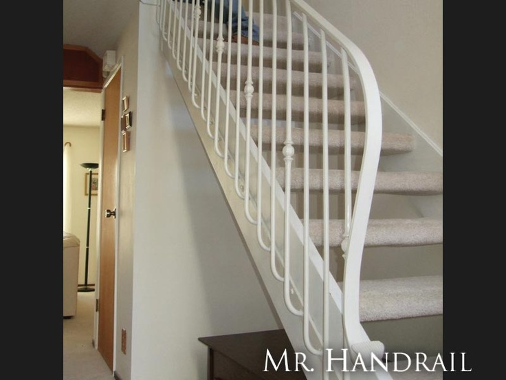 Interior stair rail mounted on side