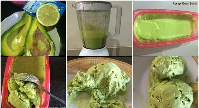 Cara membuat Es Krim Alpukat Super Praktis. Cukup 4 Bahan Saja | Resep Jajanan Indonesia