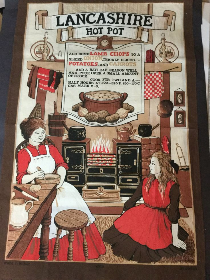 A personal favorite from my Etsy shop https://www.etsy.com/ca/listing/472839345/vintage-towel-lancashire-hot-pot-recipe