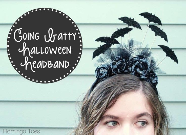 Going Batty Halloween Headband » Flamingo Toes