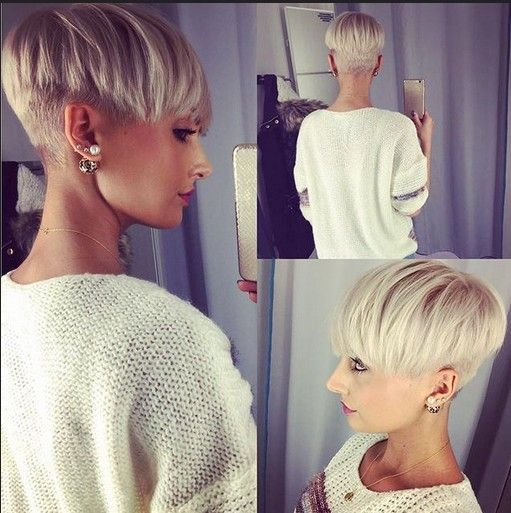 Cute, Undercut with Pixie Style - Blond Short Hairstyles for Thick Hair - Easy Everyday Hairstyle Design