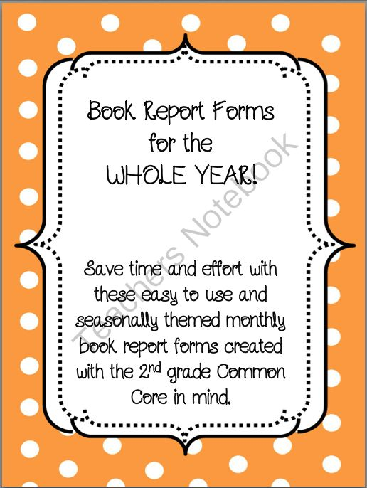 90 best Book Reports images on Pinterest School, DIY and English - monthly report templates