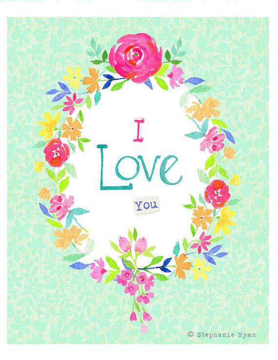 8x10 Print I Love You by stephanieryanart on Etsy, $22.00