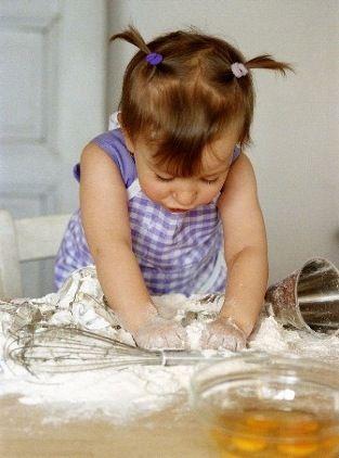 Momma's little helper.  #cute #girls #children