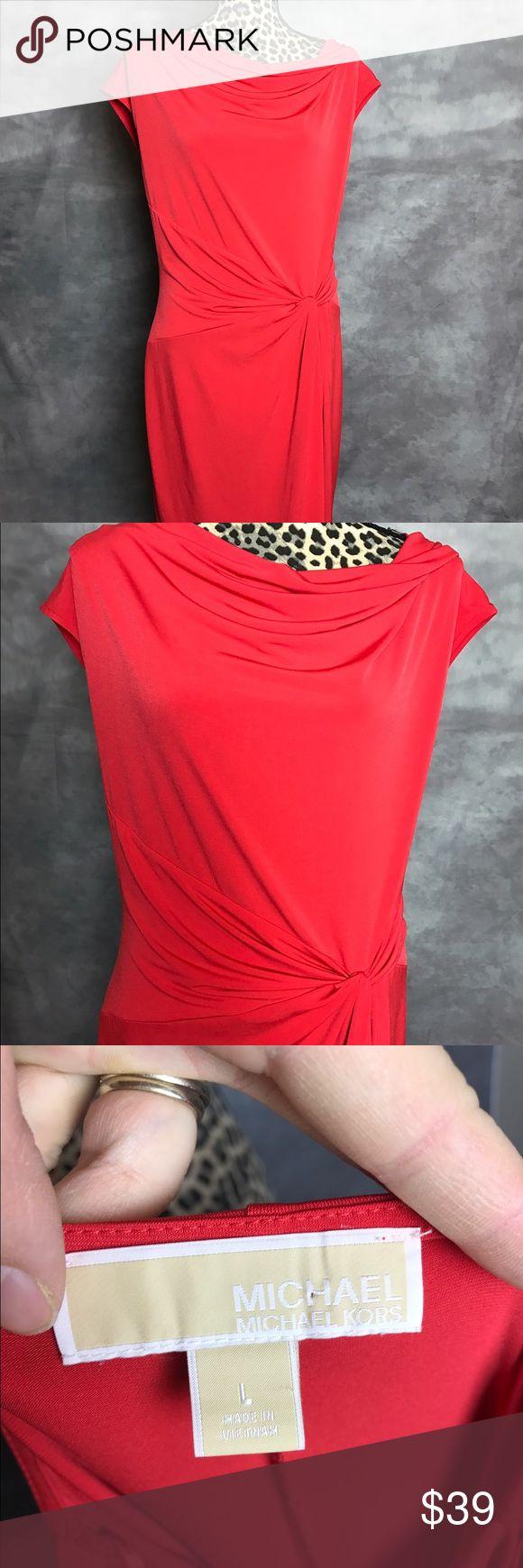 Michael Kors Woman Dress Sheath Sz L Red Great used condition knee length MICHAEL Michael Kors Dresses Mini