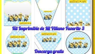 Kit Imprimible de Minions Mi Villano Favorito 3