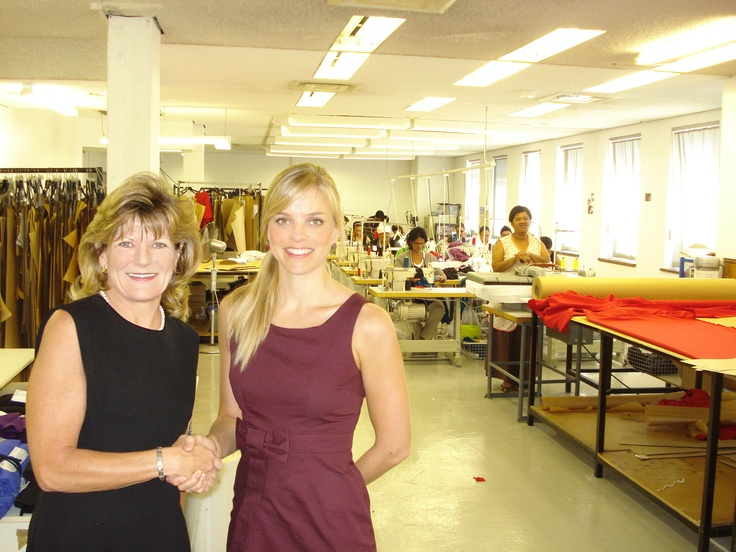 Kerry Simpson's back with another deal done and dusted. She's placed Habits Fashion Boutique into a new factory at 135 Main Road, Claremont. Pictured here are Mandy Tinkler – General Manager of Habits – with Kerry Simpson on her right. Well done!