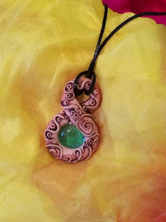 Tefnut Amulet Polymer Clay Necklace Jewelry