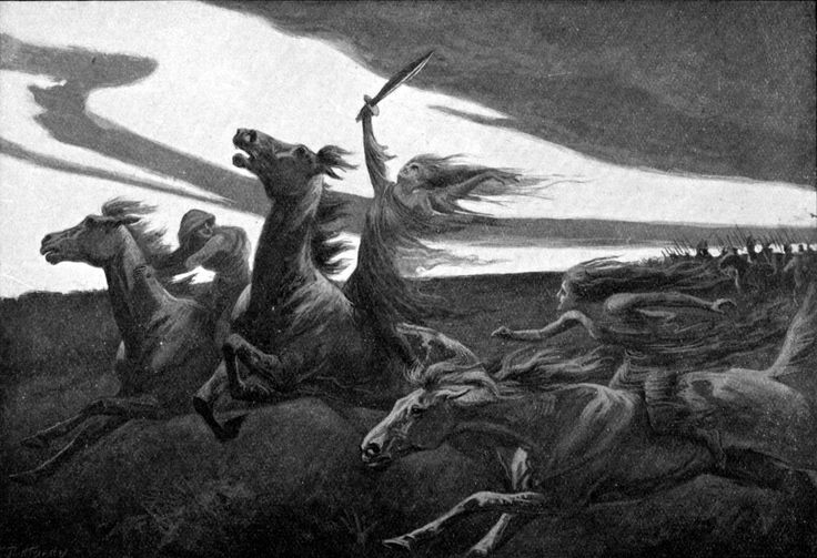 """A valkyrie (pronounced """"VAL-ker-ee""""; Old Norse valkyrja, plural valkyrjur, """"choosers of the fallen"""") is a female helping spirit of the god Odin. The modern image of the valkyries as elegant, noble maidens bearing dead heroes to Valhalla is largely accurate for what it is, but a highly selective portrayal that exaggerates their pleasant qualities. To … Norse Mythology for Smart People."""