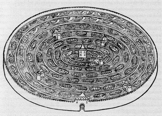 """Labirinto d'acqua da: """"Hypnerotomachia Poliphili"""" un testo esoterico anonimo uscito nel 1499 dalla tipografia di Aldo Manuzio"""