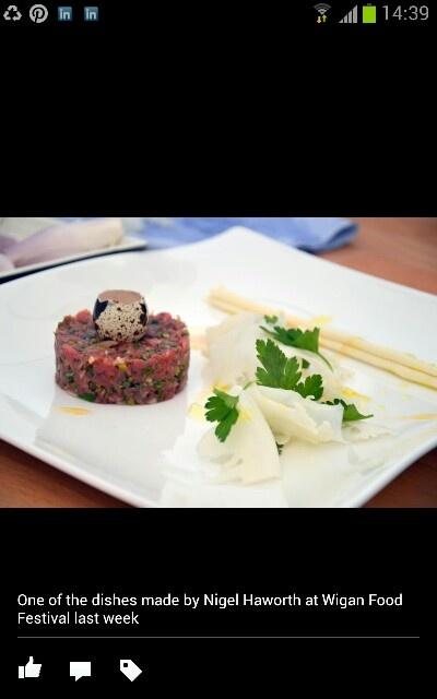A dish by Michelin Star Chef Nigel Haworth