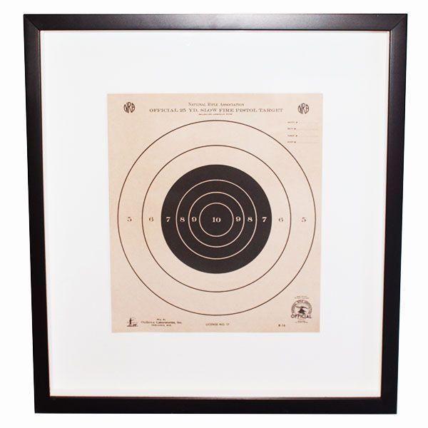 Custom Framed Vintage NRA Shooting Target