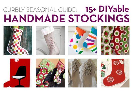 handmade stockings! DIY: Holiday, 15 Diy, Craft, Diy'S, 15 Christmas, Stockings Christmas Ideas, Diy Stockings, Stocking Ideas, Christmas Stockings